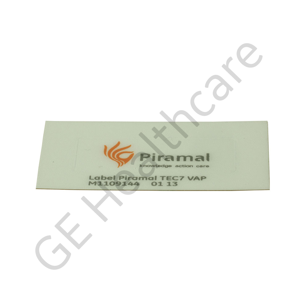 Sticker/Label Piramal Tec 7 Vaporizer - Sevofl - 8% Easy-Fil
